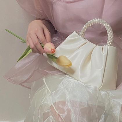 Women Bags Pearl Small Portable Fold Cloud Mobile Phone Bag