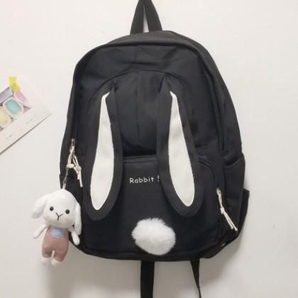 Women Bags Grade School Highschool Students Cute Rabbit Backpack