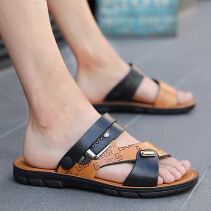 Men Fashion Summer Soft Bottom Non-slip Dual-use Trend Flip-flop