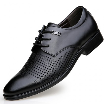 Men Fashion Casual Leather Breathable Formal Shoes