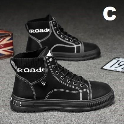 Men Fashion High-top Non-slip Casual Waterproof  Boots