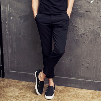 Men Basic Casual Formal Plain Long Pants