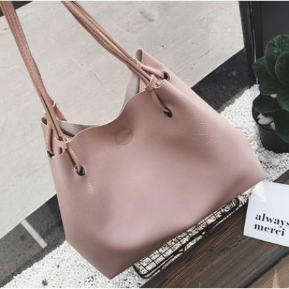 [READY STOCK] Women Buy 1 Big Free 1 Small Shoulder Hand Bag