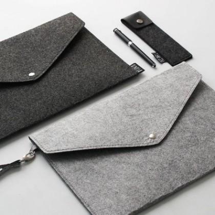 Men Felt A4 Size Document Handbag