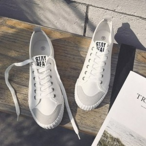 Men Smiley Lacing Up Sneakers Canvas Shoes