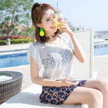 [PRE-ORDER] Women 3 Pieces 1 Set Lace Blouse Cute Swimsuit