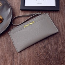 [PRE-ORDER] Women PU Leather Zipped Long Wallet Clutch