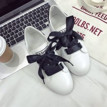[PRE-ORDER] Women Silk Ribbon Shoe Lace Sport Shoes