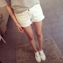 Plus Size Jeans Short Pants High Waist XL size