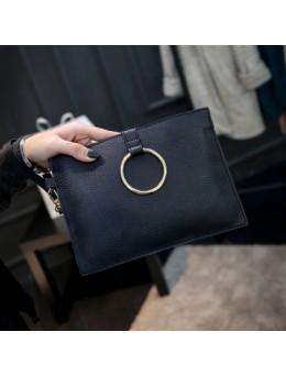[PRE-ORDER] Women PU Leather Ring Envelope Handbag Sling Bag