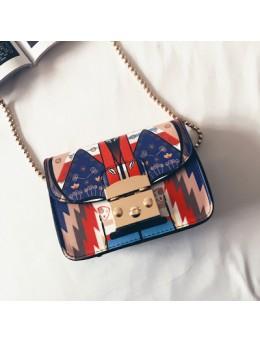 [PRE-ORDER] Women Japanese Cute Graphic Chain Design  Sling Bag