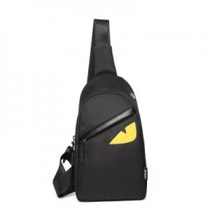 [PRE-ORDER] Men Oxford Monster Zipped Chest Pack Shoulder Bag