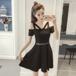 [PRE-ORDER] Women Korean Off-Shoulder Fit and Flare Dress