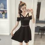 [PRE-ORDER] Women Korean Off-Shoulder Fit and Flare Dress