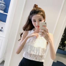 [PRE-ORDER] Women Everyday Ruffled Chiffon Sleeveless Top