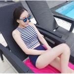 [PRE-ORDER] Women Stripes Tankini Two-Piece Swimsuit