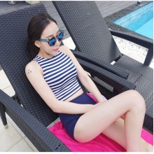 [PRE-ORDER] Women Stripes Tankini Two-Piece Swimsuit