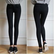 [PRE-ORDER] Women Black Stretchable Skinny Jeans Slim Pants