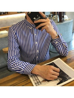 [PRE-ORDER] Men Office Working Plan Long Sleeve Shirt