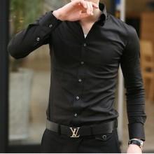 [PRE-ORDER] Men Stripe Casual Korean Button-Down Shirt