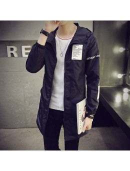 [PRE-ORDER] Men Korean Fashion Hooded Long Jacket