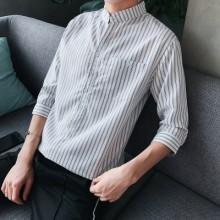 [PRE-ORDER] Men Collar Striped Casual Button Short-sleeved shirt