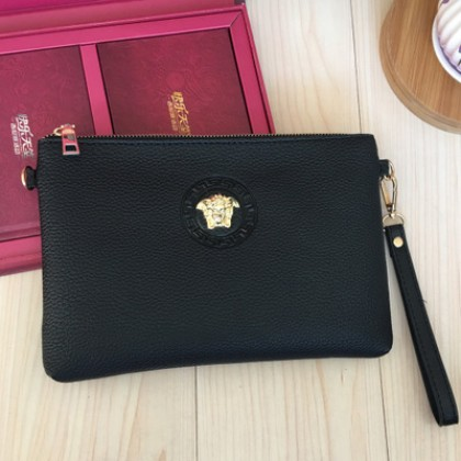 Men Casual Soft PU Leather Envelope Handbag