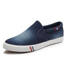 [PRE-ORDER] Men Korean Denim Canvas Student Sneaker Shoes