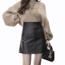 [PRE-ORDER] Women Leather High Waist Office Working Cool Skirt