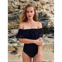 [PRE-ORDER] Women American Lotus Leaf Off Shoulder Swimsuit