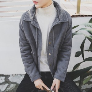 Men Korean Wool Cashmere Thick Coat Jacket
