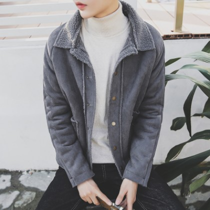 Men Korean Wool Cashmere Thick Coat Jacket