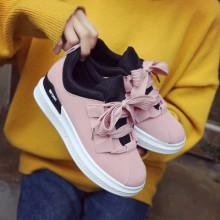 [PRE-ORDER] Women Ribbon Lace Velvet Casual Students Cute Sport Shoes