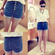 XXXL Plus Size High Waist Denim Jeans Short Pants