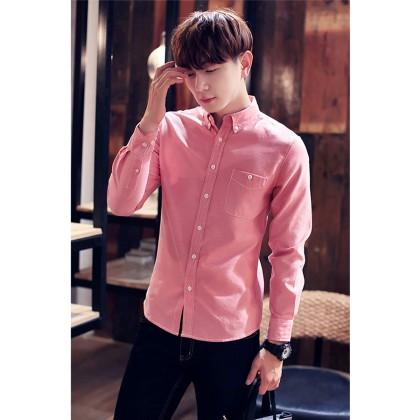 Men Office Attire Long Sleeves Shirt