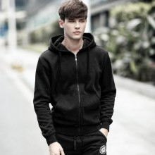 [PRE-ORDER] Men Plain Black Hoodie Jacket