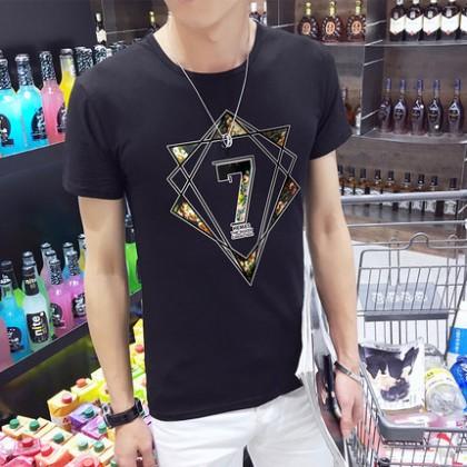 Men Summer Round Neck Short Sleeve T-Shirt