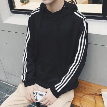 Men Long-Sleeved Hoodie Jacket