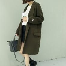 [PRE-ORDER] Women Long Double Wool Cashmere Coat Jacket