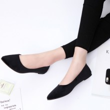 [PRE-ORDER] Women New Pointed Flat Shoes, Black Professional Shoes