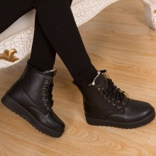 [PRE-ORDER] Women 2017 New Korean Boots Students, Wild Snow Boots with Short Flat Cotton shoes