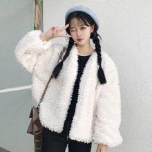 [PRE-ORDER] Women Korean Hooded Thick Plus Velvet Long Sweater Jacket