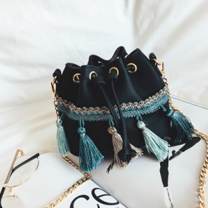 [PRE-ORDER] Women New Fashion Tassel Mini Bucket Bag