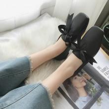 [PRE-ORDER] Women Korean Fashion Square Flat Shoes
