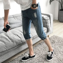 [PRE-ORDER] Men New Cropped Pants, Shorts Jeans