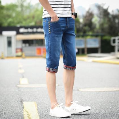 Men New Cropped Pants, Shorts Jeans