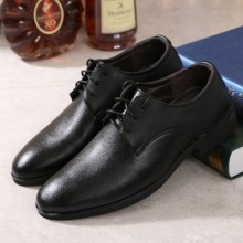 [PRE-ORDER] Men Spring and Autumn Korean Pointed Wedding Black Leather Shoes
