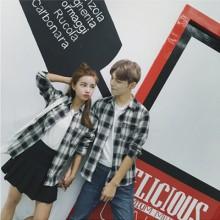 [PRE-ORDER] Men Autumn New  Long-Sleeved Plaid Shirt, Couple Wild Shirt