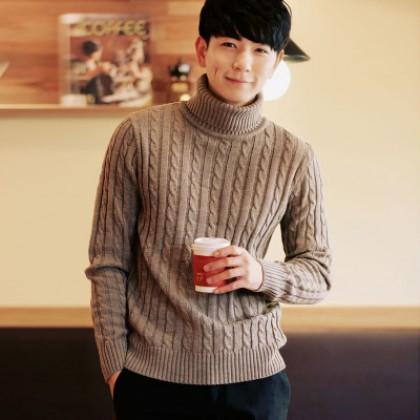 Men Winter Turtleneck Sweater