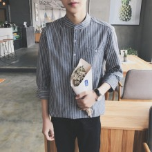 [PRE-ORDER] Men Spring and Autumn Vertical Stripes Couple Shirts